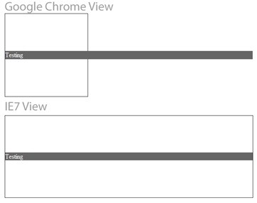 Browser Compatibility Test (View) IE7 vs Google Chrome