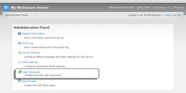 User Accounts - Web Issues